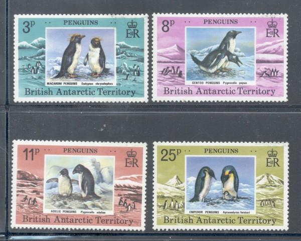 British Antarctic Terr Sc 72-5 1979 Penquins stamp set NH