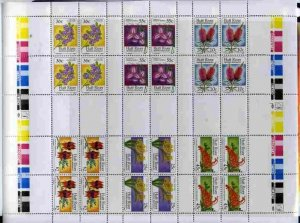 STAMP STATION PERTH Hutt River Province # Wild Flowers MNH Full Sheet 1986