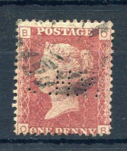PENNY RED PLATE 150 WITH 'GHW' PERFIN