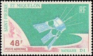 St. Pierre & Miquelon #C32, Complete Set, 1966, Space, Hinged