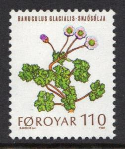 Faroe Islands 1980 MNH flowers 110ore  #