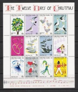 Christmas Island #86 m/sheet of 12 F-VF Mint NH ** The Twelve Days of Christmas