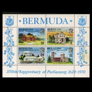 BERMUDA 1970 - Scott# 275a S/S Parliament NH