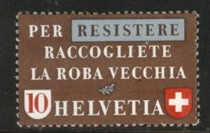 Switzerland Scott 283 MH* stamp from 1942 disturbed gum