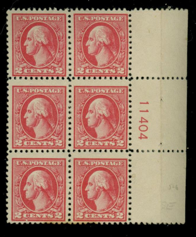 528 MINT Plate Block F-VF OG LH Minor stain Cat$100