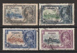 NIGERIA : 1935 KGV Silver Jubilee set 1½d to 1/-.