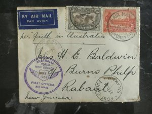 1934 Sydney Australia to Rabaul New Guinea FFC First Flight Cover
