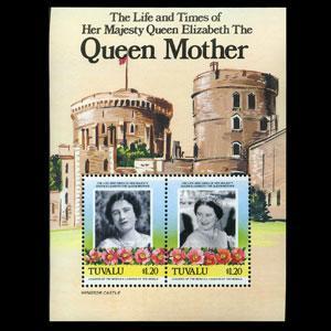 TUVALU 1985 - Scott# 315 S/S Queen Mother $1.2 NH