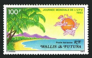 Wallis & Futuna C120,lightly hinged.Michel 440. World UPU Day,1983.
