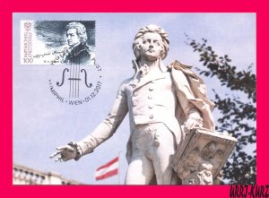 KYRGYZSTAN 2016 Famous People Music Musician Composer Mozart Maxicard Card