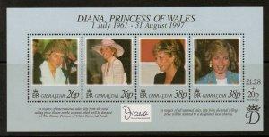 GIBRALTAR SGMS828 1998 DIANA PRINCESS OF WALES MNH