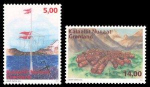 Greenland 2017 Scott #755-756 Mint Never Hinged