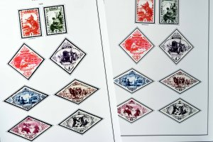 COLOR PRINTED TANNU TUVA 1926-1943 STAMP ALBUM PAGES (18 illustrated pages)