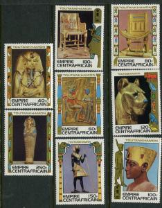 Central African Republic #349-56 MNH