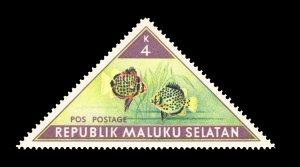REPUBLIC OF SOUTH MALUKU STAMP. TOPIC: FISH. UNUSED. ITEM 4K