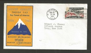 1961 US Boy Scout Denver Colo Tr 145 Blessed Sacrament Church Silver Jubilee