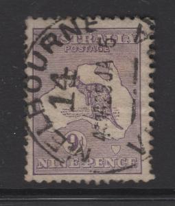 Australia 1913 Stamps 9d Kangaroo  & Map Scott 9 F