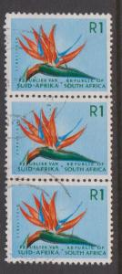 South Africa Sc#266 Used Strip of 3