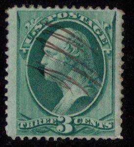 US Scott #207 BLUE GREEN F-VF