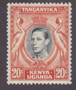 Kenya Uganda & Tanzania 74c Mint 1938 20c Orange & Gray Perf 13 Issue Very Fine