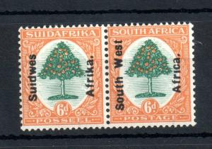 South West Africa 1926 6d LHM pair SG#43 WS13502