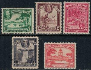 British Guiana #210-3,5*/u  CV $7.00