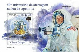 St Thomas - 2019 Apollo 11 Anniversary - Souvenir Sheet - ST190209b