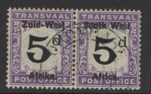 SOUTH WEST AFRICA SGD1 1923 5d BLACK & VIOLET FINE USED