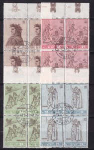 1965 - VATICAN - Scott #410-413 - First Day Cancels - Block Used