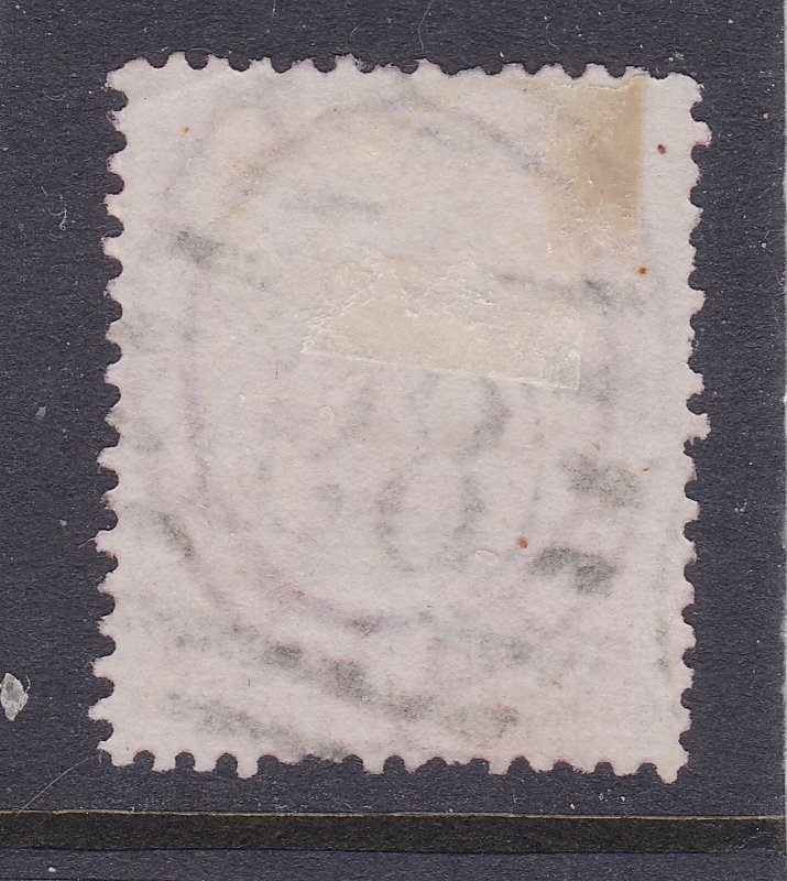 Great Britain a used QV 4d from 1855 large garter watermark