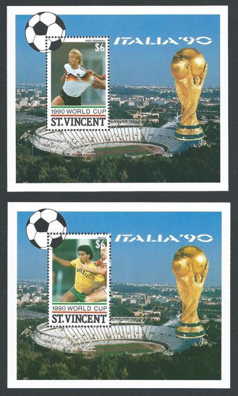 St. Vincent #1342-3 NH World Cup Soccer Italy (2 SS)