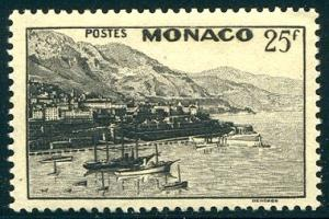 HALF CAT FRENCH COL. SALE: MONACO #221 Mint NH