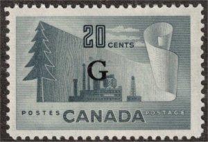 CANADA - Pulp & Paper G O30 Mint 1951