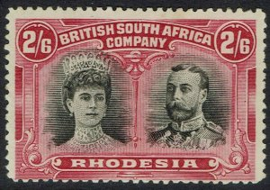 RHODESIA 1910 KGV DOUBLE HEAD 2/6
