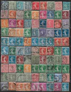 COLLECTION LOT OF 90 FRANCE 1902+ STAMPS CLEARANCE