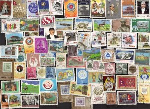 75 All Different  NEPAL STAMPS