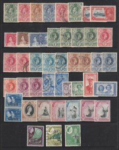 Swaziland a small MH mainly collection KGV to QE2