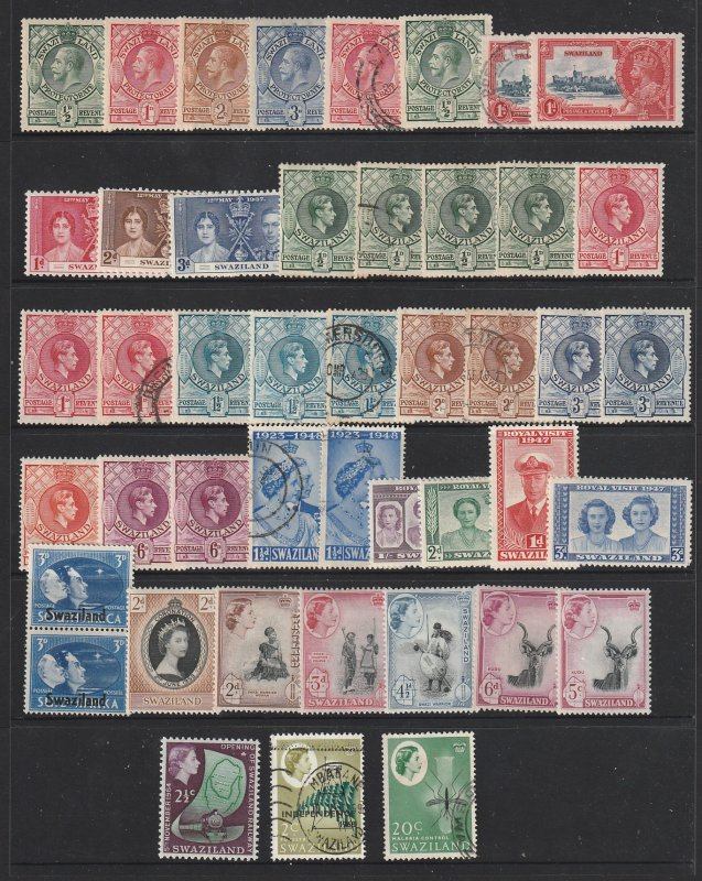 Swaziland a small collection KGV to early QE2