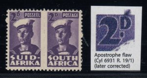 South Africa, SG 100c, MNH Apostrophe Flaw variety