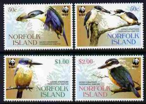 Norfolk Island 2004 WWF - Sacred Kingfisher perf set of 4...