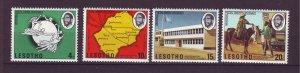 J23989 JLstamps 1974 lesotho set mnh #166-9 upu