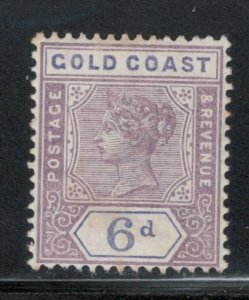 Gold Coast 1898 Queen Victoria 6p Scott # 31 MH