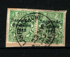 IRELAND 1922 Free State EIRE *Lawrencetown Ballinasloe* Galway Postmark MS2255