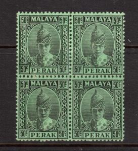 Malaya Perak #95 NH Mint Block