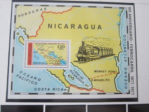 Nicaragua 1978 Sc C941 Train set MNH