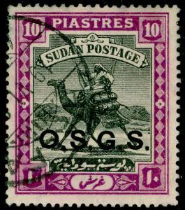 SUDAN SGO11, 10p black & mauve, FINE USED. Cat £70.