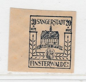 Finsterwalde WWII Germany World War II Local Stamp 1946 20+10pf MNH** A20P4F187
