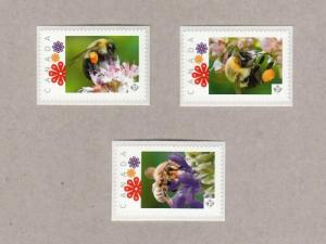 pc. BEE, HONEYBEE = set of 3 Picture Postage stamps Canada 2017 [p17-02be3]