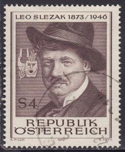 Austria 947 Leo Slezak, Operatic Tenor 1973