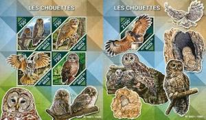 Niger 2013 birds of prey owls klb+s/s MNH